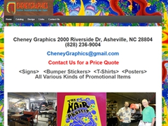 Cheney Graphics<br/>Custom Screenprinting<br/>Asheville NC