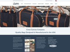 "Cross Canvas Company Bags & Baggage "" Manufactured in USA"""