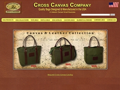 Cross Canvas Company<br/> Bags & Baggage &quot;Made in USA&quot;