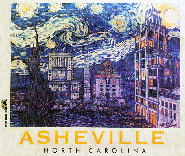 Starry Night Over Asheville by Dan Rieser